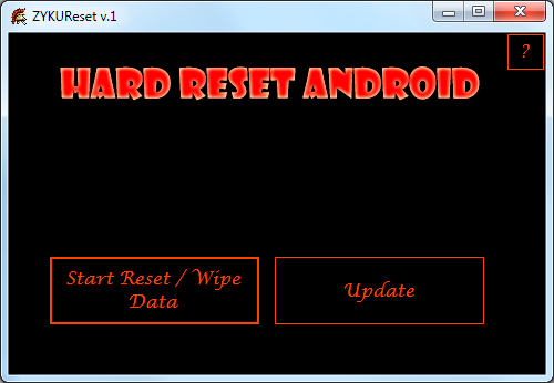 ZYKUReset v.1 program to reset to factory settings